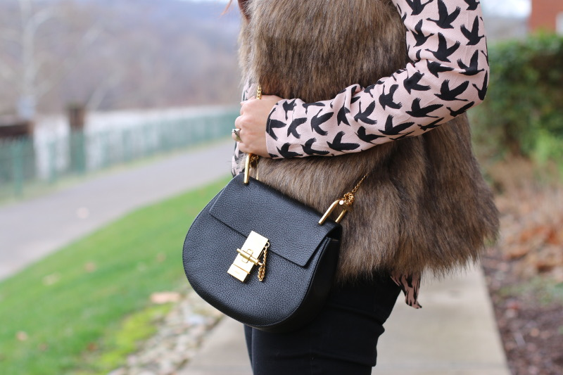 chloe mini drew, purse, crossbody bag