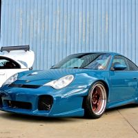 Stanced Porsche 996 at First Class Fitment