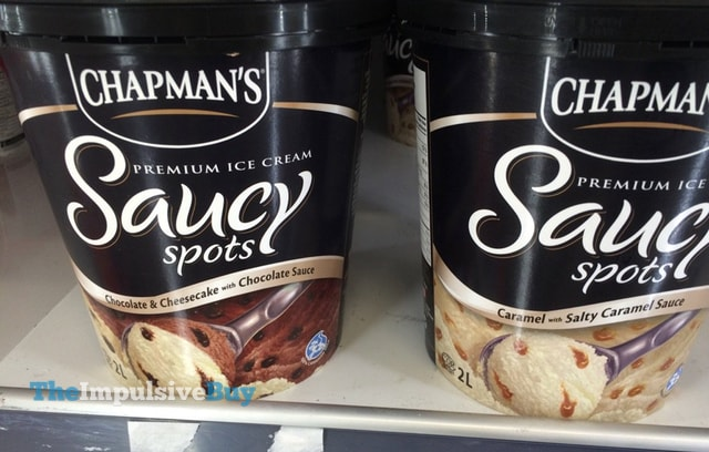 Chapman's Saucy Spots Premium Ice Cream (Chocolate & Cheesecake with Chocolate Sauce and Caramel with Salty Caramel Sauce)