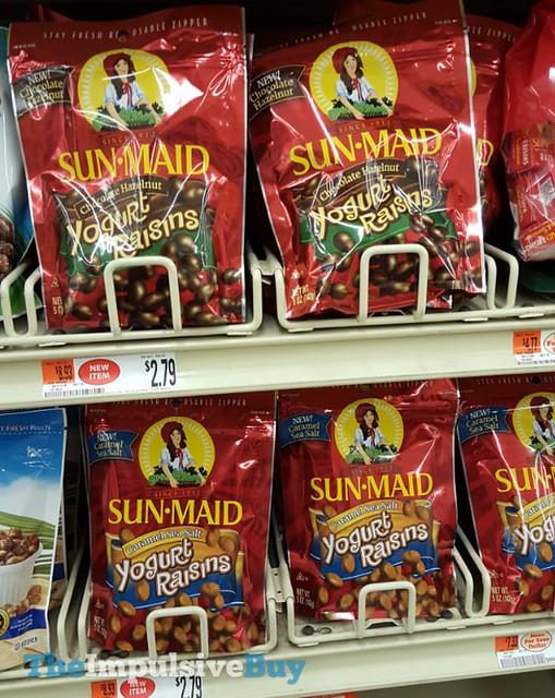 Sun Maid Chocolate Hazelnut and Caramel Sea Salt Yogurt Raisins
