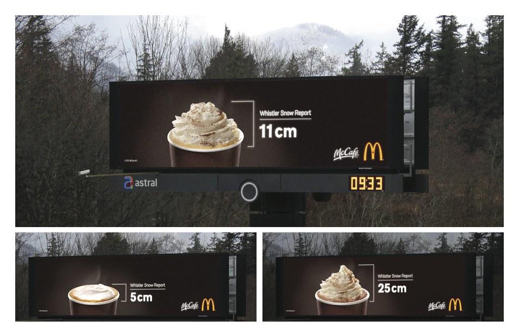 McDonald's Canada - McCafé Snow Report Billboard