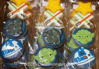 Mini Starwars cookie party favours