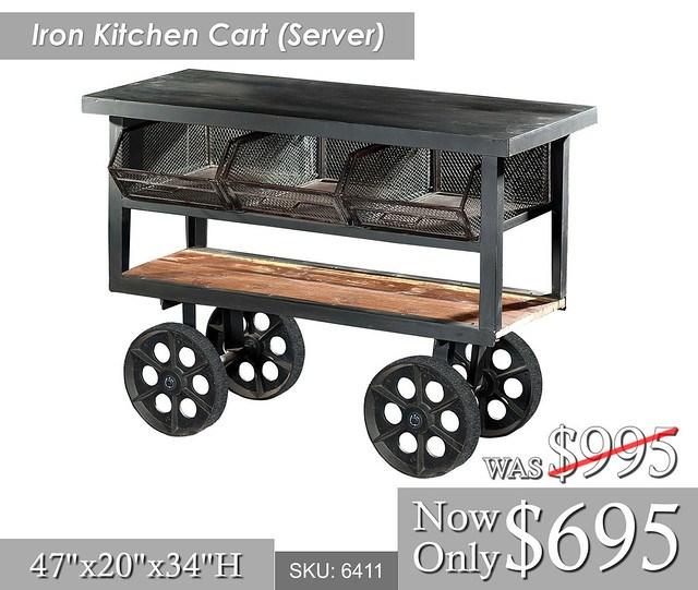 Iron Kitchen Cart Server
