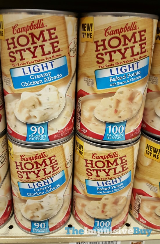 Campbell's Homestyle Light Creamy Chicken Alfredo and Baked Potato Soups