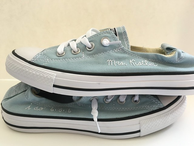 something blue custom converse
