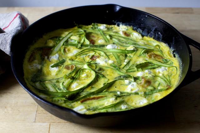 shaved asparagus frittata