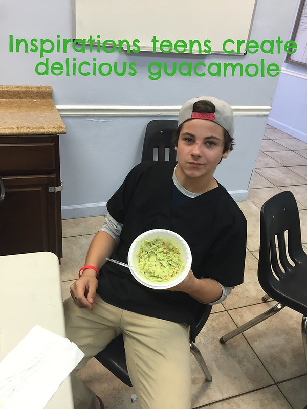Teens in rehab learn to create delicious guacamole!