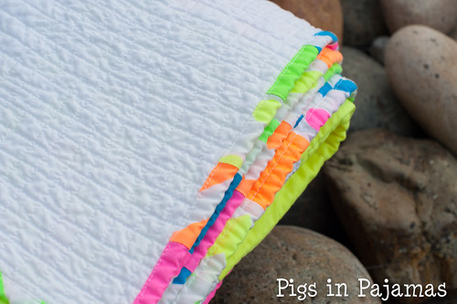 Neon quilt binding