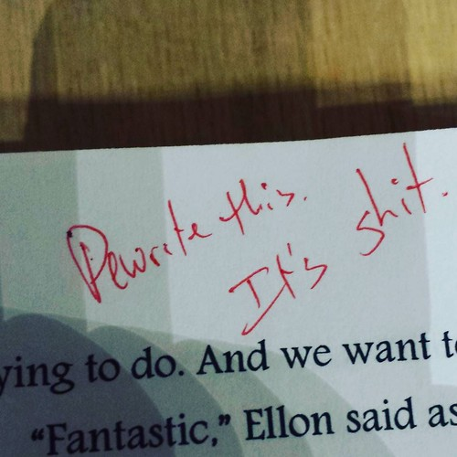 Blunt self-honesty is crucial when editing. #amwriting