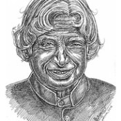 A. P. J. Abdul Kalam Portraits by Ani,Chennai,Tamilnadu,India