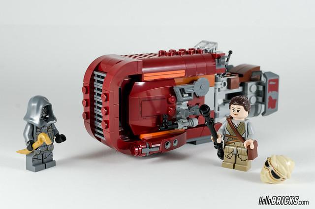 REVIEW LEGO Star Wars 75099 Rey's Speeder 14 - HelloBricks
