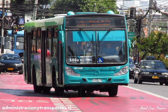Transantiago - Metbus - Caio Mondego H / Mercedes Benz (BJFR33) (662) (506v)