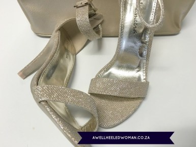 GoldGlitter sandal Week 14 - My favourite things - 52 week Blogger Challenge #awellheeledwomanblog