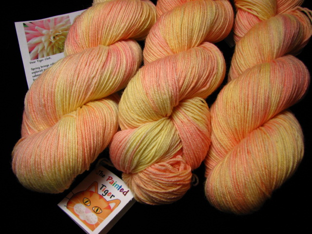 Blushing Dahlia Tiger Club March 2016 on Silky Sock