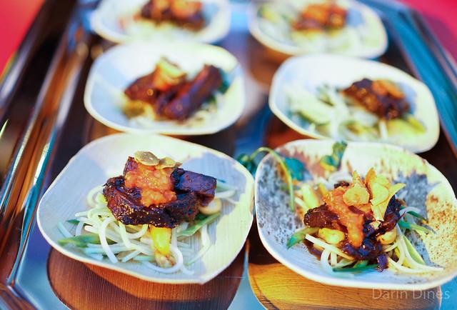 VooDoo Steakhouse wagyu short rib over green papaya