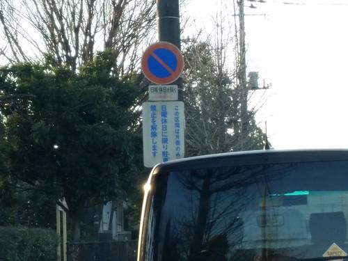 昭和沼@久喜菖蒲公園の周りの道は休日は駐車禁止が解かれるようです