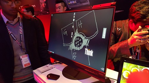 Lenovo ThinkVision X1 จอแสดงผลขนาดใหญ่ ความละเอียดสูง พร้อมกล้อง 2D/3D (เลือกได้)