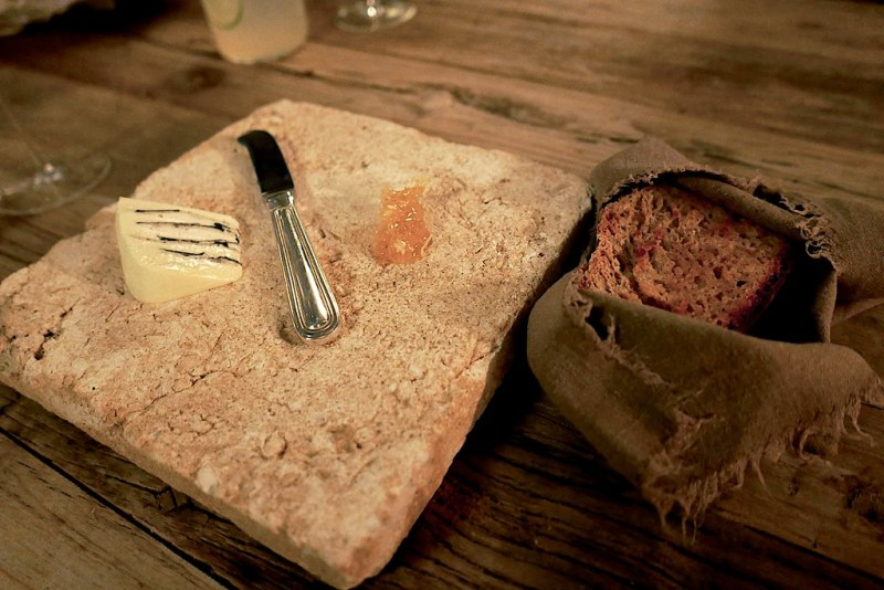 Brillat-Savarin cheese laced with truffle, marmalade, bread