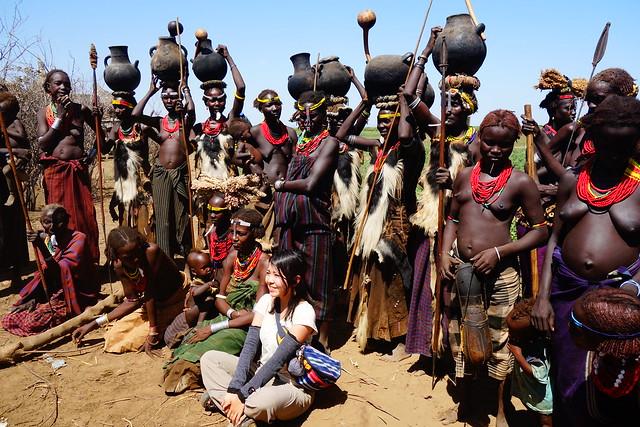 エチオピアのダサネチ族