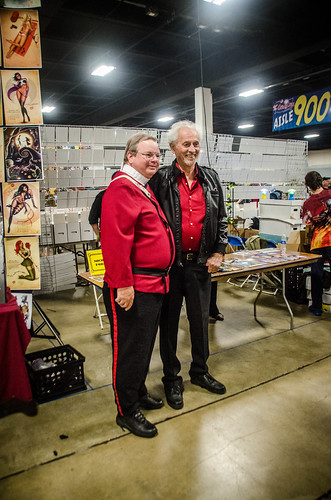 Michael Forrest (Apollo from Star Trek) with Star Trek Cosplayer
