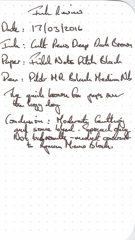 Cult Pens Deep Dark Brown - Field Notes