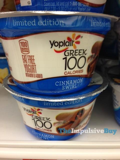 Limited Edition Yoplait Greek 100 Cinnamon Swirl Yogurt