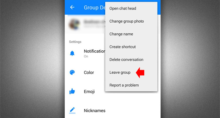 Leave Fb Group Chat - Messenger 3