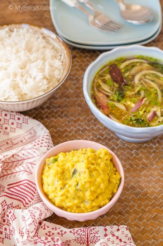 Telangana Food, Telangana Cuisine, Telugu Food, Indian Food, South Indian Food, Blogging Marathon, Journey Through the Cuisines, A-Z Challenge, A-Z Telangana Cuisine, Pappu, Dal, Kandi Pappu, Toor Dal, Arhar Dal,