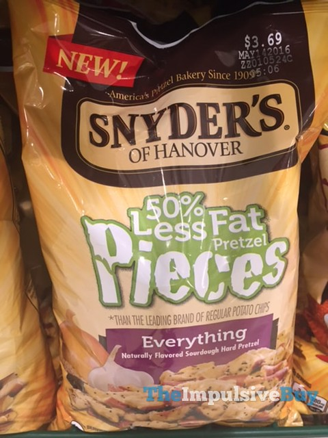 Snyder's of Hanover Everything 50% Less Fat Pretzel Pieces