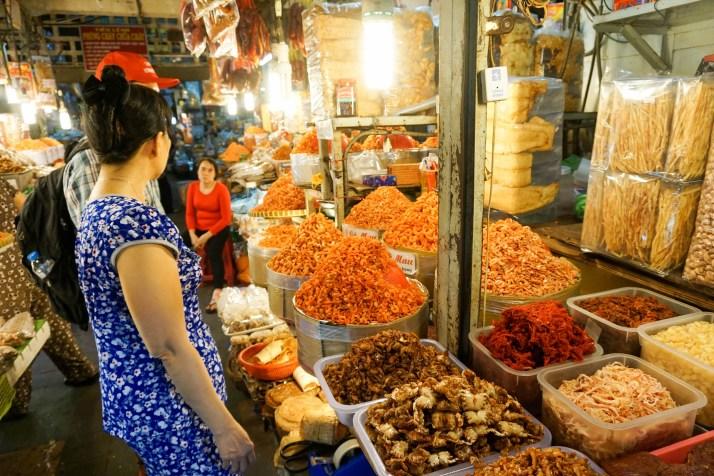 Touring a Market with Saigon Street Eats Tour. Ho Chi Minh City, Vietnam, April 2016