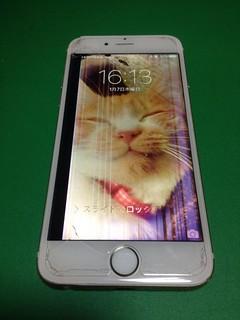 28_iPhone6のフロントパネル液晶割れ