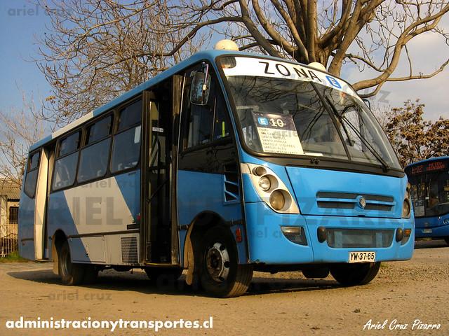 Transantiago - Unitran - Caio Foz / Mercedes Benz (YW3765)