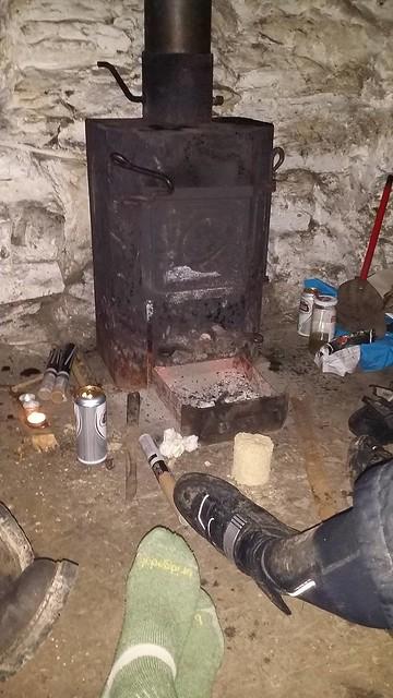 Bothy fireplace