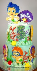 Bubble Guppie birthday cake