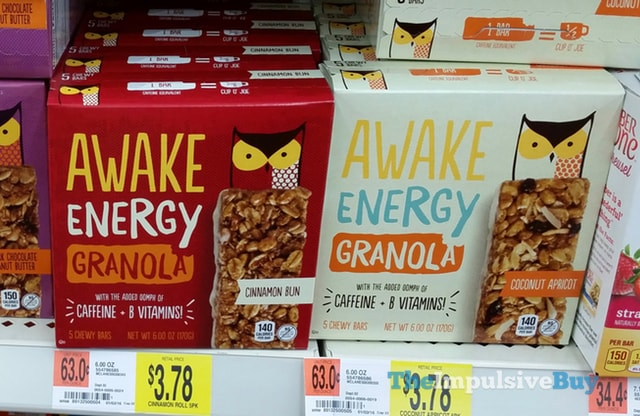 Awake Energy Granola Bars (Cinnamon Bun and Coconut Apricot)