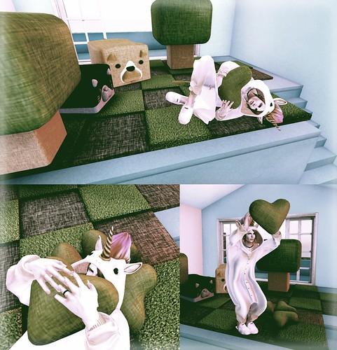ANIMAL CUBE STOOL2 gacha-Clover Cushion