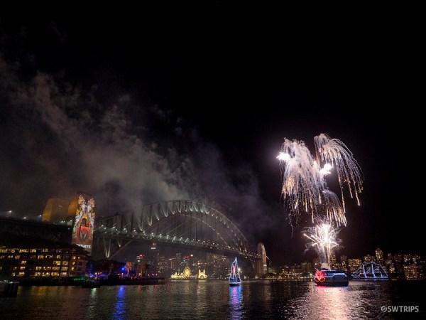 New Year's Eve Firework, Sydney Harbour Bridge