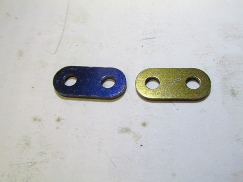 Master Link Middle Plate (Black) and Back Plate (Bronze)