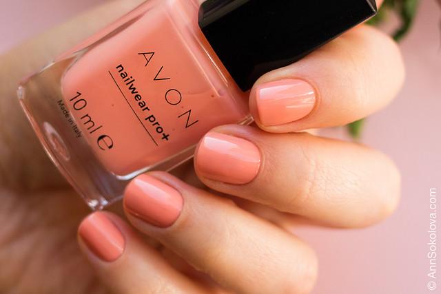 03 Avon Nailwear pro+ Sheer Citrus Настоящий цитрус swatches Ann Sokolova