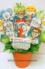 Apple Dental gift cookie bouquet