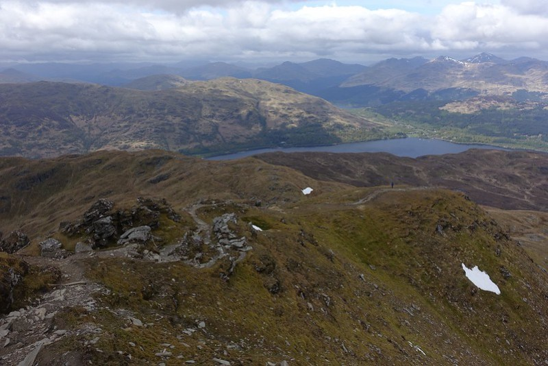 Ptarmigan Ridge leading down from Ben Lomond