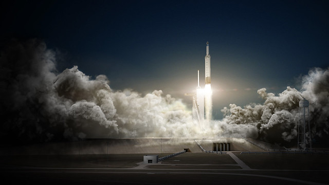 Falcon Heavy and Dragon