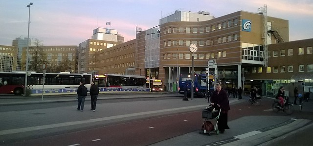 Groningen train station bus rank netherlands