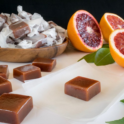 blood orange caramels