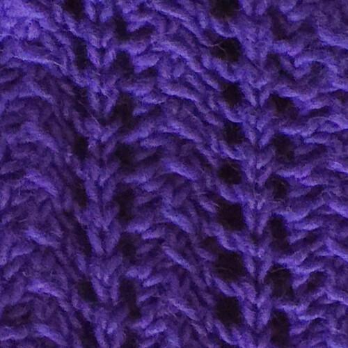 Purple Scarf: Close