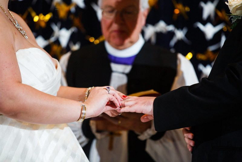 Winter storm Harry Potter wedding as seen on @offbeatbride