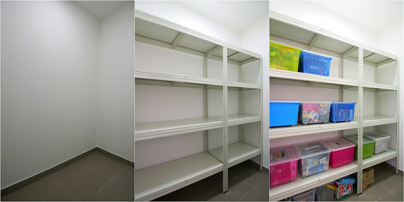 Boltless metal shelf