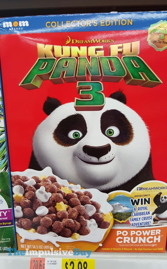 Mom Brand's Dreamworks Kung Fu Panda 3 Po Power Crunch Cereal
