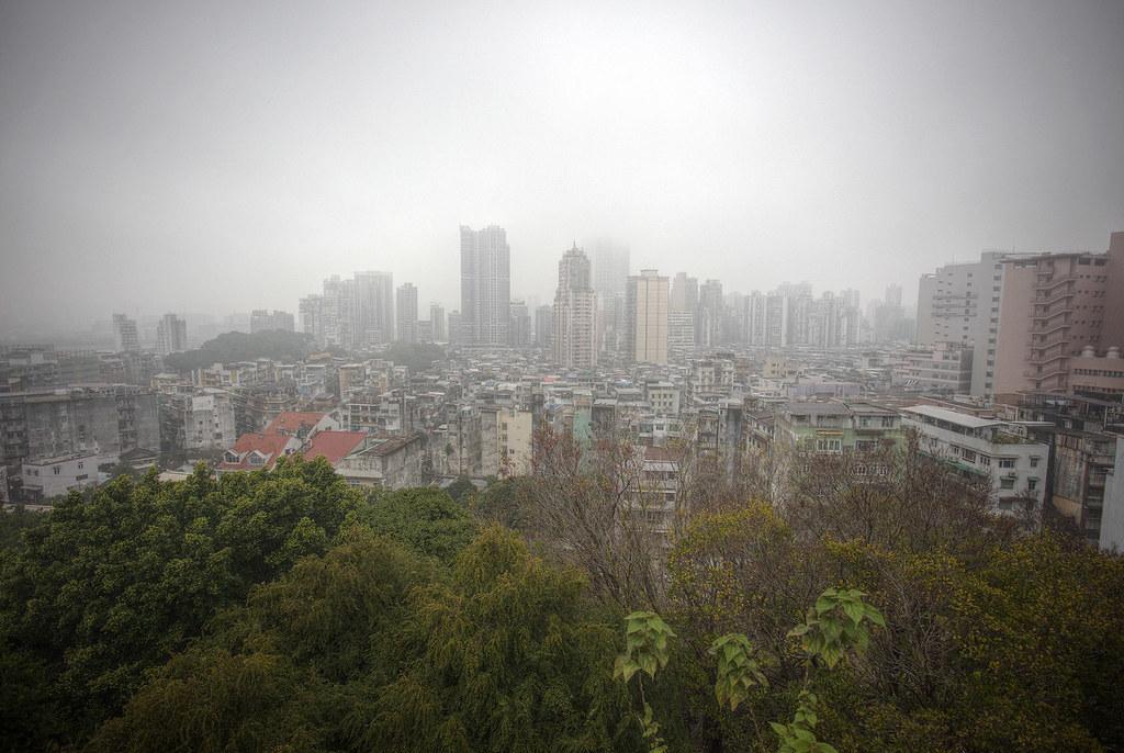 Cold and rainy Hong Kong.