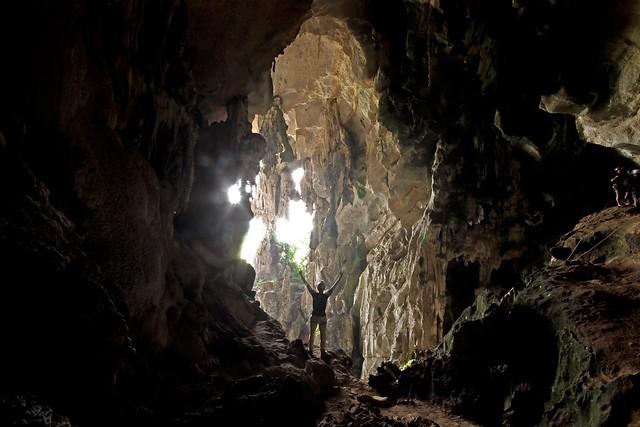 Caving at Gua Kandu